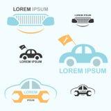 Λογότυπο προσοχής αυτοκινήτων Στοκ εικόνες με δικαίωμα ελεύθερης χρήσης