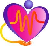 Λογότυπο προσοχής καρδιών Στοκ φωτογραφίες με δικαίωμα ελεύθερης χρήσης