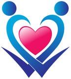 Λογότυπο προσοχής καρδιών Στοκ Φωτογραφίες
