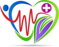 Λογότυπο προσοχής καρδιών απεικόνιση αποθεμάτων