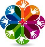 Λογότυπο προσοχής χεριών Στοκ Φωτογραφία