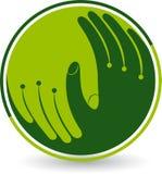 Λογότυπο προσοχής χεριών ελεύθερη απεικόνιση δικαιώματος