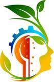 Λογότυπο προσώπου φύλλων εργαλείων διανυσματική απεικόνιση