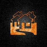 λογότυπο πυρκαγιάς κτημάτων πραγματικό διανυσματική απεικόνιση