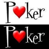 Λογότυπο πόκερ στοκ φωτογραφίες