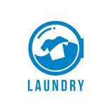 Λογότυπο πλυντηρίων Στοκ Φωτογραφία