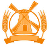 Λογότυπο σίτου μύλων Στοκ εικόνες με δικαίωμα ελεύθερης χρήσης