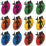 Λογότυπο σερβιτορών Στοκ Φωτογραφίες