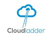 Λογότυπο σκαλών σύννεφων (σημάδι, απεικόνιση, εικονίδιο) Στοκ Φωτογραφία
