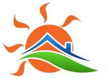 λογότυπο σπιτιών ηλιόλο&upsil διανυσματική απεικόνιση