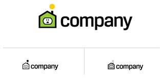 λογότυπο σπιτιών κτημάτων π απεικόνιση αποθεμάτων