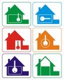 λογότυπο σπιτιών χρωμάτων διανυσματική απεικόνιση