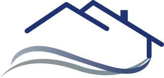 λογότυπο σπιτιών Στοκ εικόνα με δικαίωμα ελεύθερης χρήσης