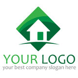 λογότυπο σπιτιών απεικόνιση αποθεμάτων