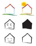 λογότυπο σπιτιών ελεύθερη απεικόνιση δικαιώματος