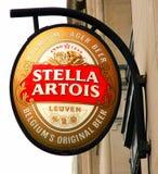 λογότυπο Στέλλα artois Στοκ φωτογραφίες με δικαίωμα ελεύθερης χρήσης