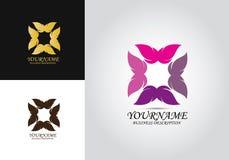 Λογότυπο σχεδίου της Pet πεταλούδων διανυσματική απεικόνιση