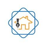 Λογότυπο σχεδίου σπιτιών στοκ εικόνες με δικαίωμα ελεύθερης χρήσης