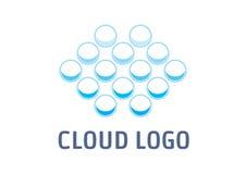 Λογότυπο σύννεφων στοκ φωτογραφία με δικαίωμα ελεύθερης χρήσης