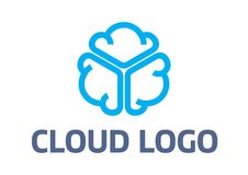 Λογότυπο σύννεφων στοκ εικόνες με δικαίωμα ελεύθερης χρήσης