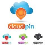 Λογότυπο σύννεφων Στοκ φωτογραφίες με δικαίωμα ελεύθερης χρήσης