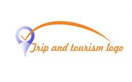 Λογότυπο ταξιδιού και τουρισμού Στοκ εικόνες με δικαίωμα ελεύθερης χρήσης
