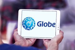 Λογότυπο τηλεπικοινωνιών σφαιρών Στοκ Εικόνα