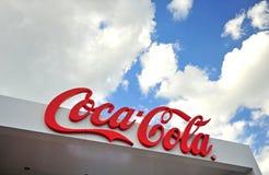 Λογότυπο της επιχείρησης της Coca-Cola στοκ φωτογραφίες