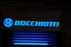 Λογότυπο της ιταλικής επιχείρησης Bocchiotti στοκ φωτογραφία με δικαίωμα ελεύθερης χρήσης