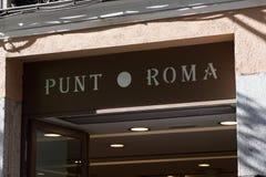 Λογότυπο της Ρώμης κλωτσιάς στο κατάστημα της Ρώμης κλωτσιάς στοκ φωτογραφία με δικαίωμα ελεύθερης χρήσης