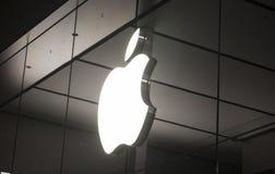 Λογότυπο της Apple Store Στοκ φωτογραφίες με δικαίωμα ελεύθερης χρήσης
