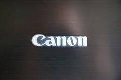 Λογότυπο της Canon στον εκτυπωτή Στοκ Εικόνες