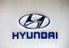 λογότυπο της Hyundai Στοκ φωτογραφία με δικαίωμα ελεύθερης χρήσης