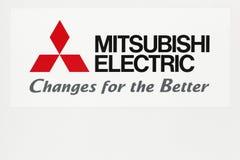 Λογότυπο της Mitsubishi Electric σε έναν τοίχο Στοκ Εικόνες