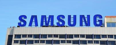 Λογότυπο της Samsung Στοκ φωτογραφία με δικαίωμα ελεύθερης χρήσης