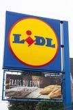 Λογότυπο του εμπορικού σήματος Lidl Στοκ φωτογραφία με δικαίωμα ελεύθερης χρήσης