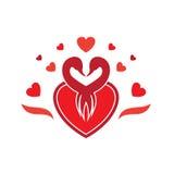 Λογότυπο του Κύκνου αγάπης στοκ φωτογραφία με δικαίωμα ελεύθερης χρήσης