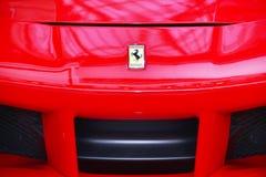 Λογότυπο του ferrari στο σπορ αυτοκίνητο Στοκ εικόνες με δικαίωμα ελεύθερης χρήσης