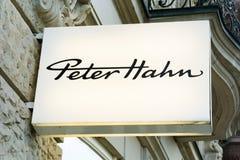 Λογότυπο του PETER HAHN Στοκ Φωτογραφίες