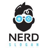 Λογότυπο τυχερού παιχνιδιού Nerd Στοκ φωτογραφία με δικαίωμα ελεύθερης χρήσης