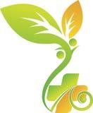 Λογότυπο υγειονομικής περίθαλψης Eco Στοκ φωτογραφία με δικαίωμα ελεύθερης χρήσης