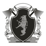 Λογότυπο υπό μορφή ασπίδας Στοκ Εικόνες