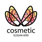 Λογότυπο υπό μορφή πολύχρωμων φτερών Στοκ Φωτογραφίες