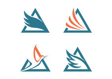 Λογότυπο φτερών τριγώνων ελεύθερη απεικόνιση δικαιώματος