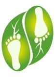 λογότυπο φύλλων ποδιών Στοκ Φωτογραφία