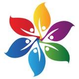 λογότυπο φύλλων Στοκ Εικόνα