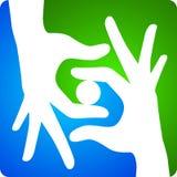 λογότυπο χεριών Στοκ Φωτογραφίες