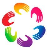 λογότυπο χεριών Στοκ φωτογραφίες με δικαίωμα ελεύθερης χρήσης