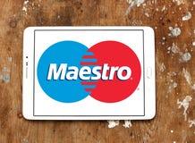 Λογότυπο χρεωστικών καρτών Maestro Στοκ εικόνες με δικαίωμα ελεύθερης χρήσης