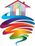 Λογότυπο χρωμάτων σπιτιών ελεύθερη απεικόνιση δικαιώματος